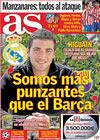 Portada diario AS del 8 de Abril de 2010