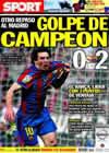 Portada diario Sport del 11 de Abril de 2010