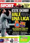 Portada diario Sport del 16 de Abril de 2010