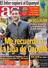 Portada diario AS del 20 de Abril de 2010