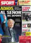 Portada diario Sport del 22 de Abril de 2010