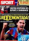 Portada diario Sport del 23 de Abril de 2010