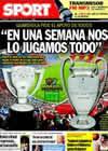 Portada diario Sport del 24 de Abril de 2010