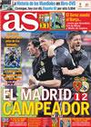 Portada diario AS del 25 de Abril de 2010