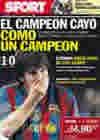 Portada diario Sport del 29 de Abril de 2010