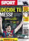 Portada diario Sport del 1 de Mayo de 2010