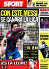 Portada diario Sport del 3 de Mayo de 2010