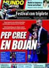 Portada Mundo Deportivo del 3 de Mayo de 2010
