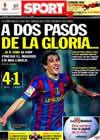 Portada diario Sport del 5 de Mayo de 2010