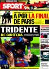 Portada diario Sport del 7 de Mayo de 2010