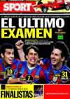 Portada diario Sport del 8 de Mayo de 2010