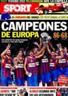 Portada diario Sport del 10 de Mayo de 2010