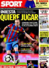 Portada diario Sport del 13 de Mayo de 2010