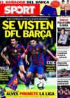 Portada diario Sport del 14 de Mayo de 2010