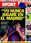 Portada diario Sport del 15 de Mayo de 2010