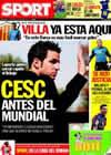 Portada diario Sport del 21 de Mayo de 2010