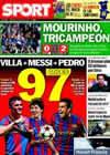 Portada diario Sport del 23 de Mayo de 2010
