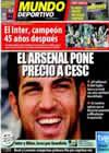 Portada Mundo Deportivo del 23 de Mayo de 2010