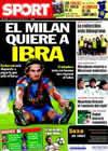 Portada diario Sport del 25 de Mayo de 2010