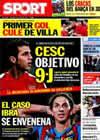 Portada diario Sport del 30 de Mayo de 2010