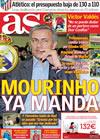 Portada diario AS del 2 de Junio de 2010