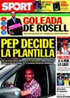 Portada diario Sport del 2 de Junio de 2010