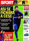 Portada diario Sport del 3 de Junio de 2010
