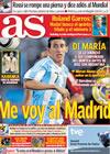 Portada diario AS del 6 de Junio de 2010