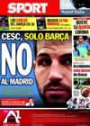 Portada diario Sport del 6 de Junio de 2010