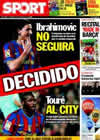 Portada diario Sport del 9 de Junio de 2010