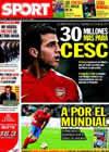 Portada diario Sport del 11 de Junio de 2010