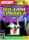 Portada diario Sport del 13 de Junio de 2010