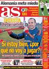 Portada diario AS del 14 de Junio de 2010