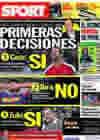 Portada diario Sport del 15 de Junio de 2010