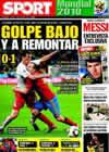 Portada diario Sport del 17 de Junio de 2010