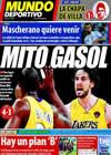 Portada Mundo Deportivo del 19 de Junio de 2010