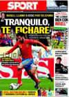 Portada diario Sport del 20 de Junio de 2010
