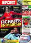 Portada diario Sport del 21 de Junio de 2010