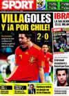 Portada diario Sport del 22 de Junio de 2010