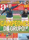 Portada diario AS del 26 de Junio de 2010