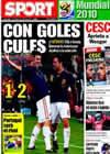 Portada diario Sport del 26 de Junio de 2010
