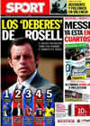 Portada diario Sport del 28 de Junio de 2010