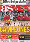 Portada diario AS del 29 de Junio de 2010