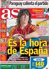 Portada diario AS del 2 de Julio de 2010