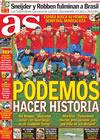 Portada diario AS del 3 de Julio de 2010