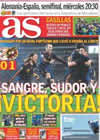 Portada diario AS del 4 de Julio de 2010