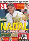 Portada diario AS del 5 de Julio de 2010