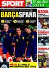 Portada diario Sport del 5 de Julio de 2010