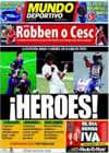 Portada Mundo Deportivo del 5 de Julio de 2010
