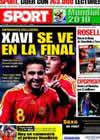 Portada diario Sport del 6 de Julio de 2010